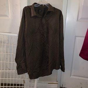 Club Room Men's dress shirt - 14 1/2 36/47 Brown